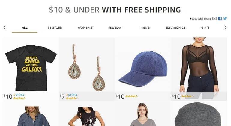 amazon Under 10$ section